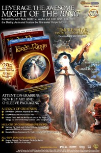The Lord of the Rings animated film DVD and Blu-ray (1)