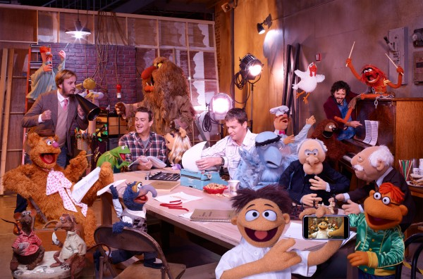 Jason-Segel-James-Bobin-Nick-Stoller-Bret-McKenzie-MUPPET-MOVIE-image-1-600x397