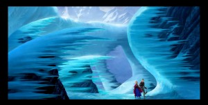 "Prima imagine din animatia Disney ""Frozen"""