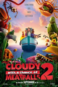 "Stiri animatie: Primul poster si trailer ""Cloudy With A Chance of Meatballs 2"""