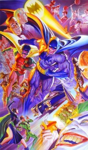 Poster aniversar Batman creat de catre Alex Ross