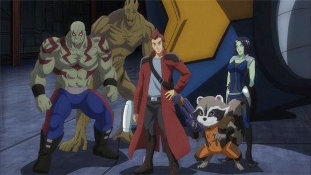 The Guardians of the galaxy anime