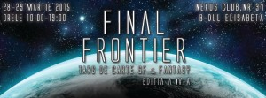 Final Frontier 2015 – târg de carte SF & Fantasy