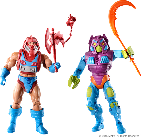 Masters of the Universe Rotar vs Twistoid figures