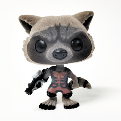 POP GOTG RAVAGER ROCKET RACCOON PX FLOCKED VERSION