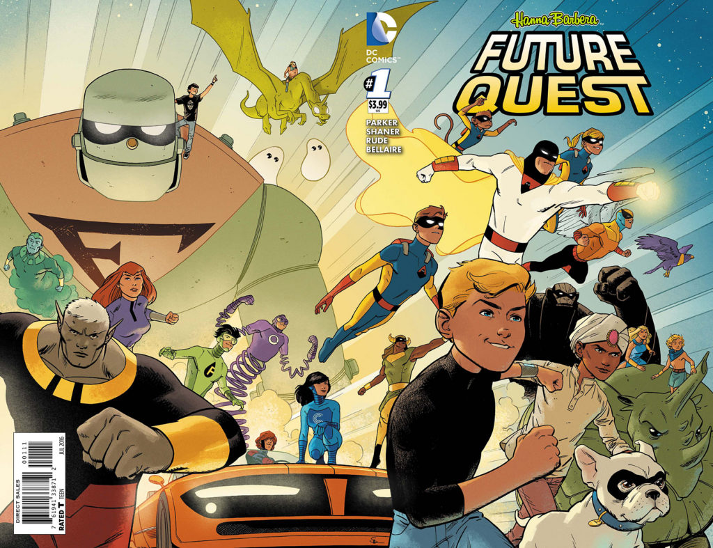 Future Quest #1 cover by Evan Shaner